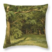 The Forest Clearing Throw Pillow