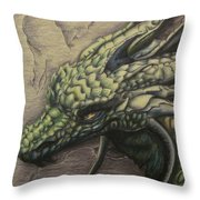 The Forest Dragon Throw Pillow