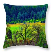 The Forest Echoes With Laughter 2 Throw Pillow