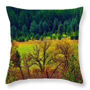 The Forest Echoes With Laughter Throw Pillow