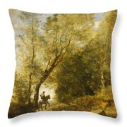 The Forest Of Coubron Throw Pillow