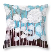 The Forest Of Fluff  Throw Pillow