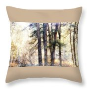 The Forest Speaks Throw Pillow