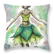 The Forest Sprite Throw Pillow