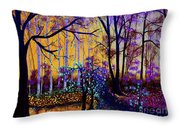 The Forest - Yellow Pond  Throw Pillow