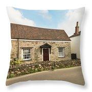 The Forge And Blacksmith's Cottage Mylor Bridge Throw Pillow