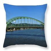 The Fort Henry Bridge - Wheeling West Virginia Throw Pillow