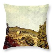 The Fort In Lorca Throw Pillow