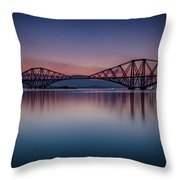 The Forth Bridge Before Sunrise Throw Pillow