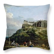 The Fortress Of Konigstein Throw Pillow