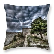 The Fortress The Tree The Clouds Throw Pillow