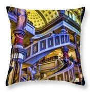 The Forum At Caesars Throw Pillow
