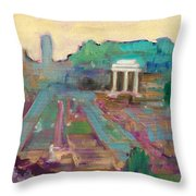 The Forum Romanum Throw Pillow