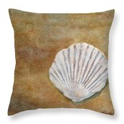 The Fossil Shell Throw Pillow