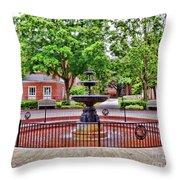 The Fountain At Radford University Throw Pillow