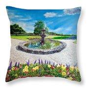 Gushing Fountain Throw Pillow