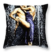 The Fountain Of Tango Throw Pillow