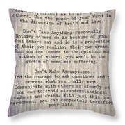 The Four Agreements 6 Throw Pillow