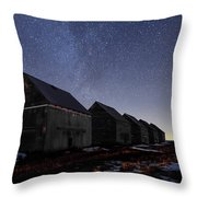 The Four Barns Of Drumheller Throw Pillow