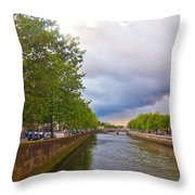 The Four Courts In Reconstruction 3 Throw Pillow