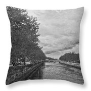 The Four Courts In Reconstruction 3 Bw Throw Pillow