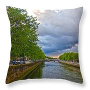 The Four Courts In Reconstruction 3 V2 Throw Pillow