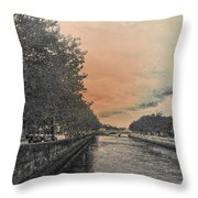 The Four Courts In Reconstruction 3 V4 Throw Pillow
