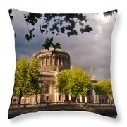 The Four Courts In Reconstruction Throw Pillow