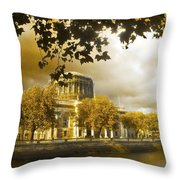 The Four Courts In Reconstruction Sepia Throw Pillow