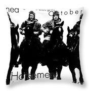 The Four Horsemen Of Notre Dame Throw Pillow