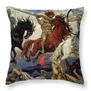 The Four Horsemen Of The Apocalypse Throw Pillow
