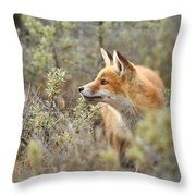 The Fox And Its Prey Throw Pillow
