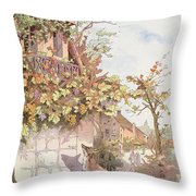 The Fox And The Grapes Throw Pillow