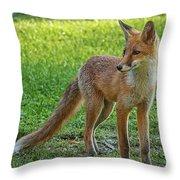 The Fox Throw Pillow