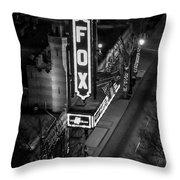 The Fox Thearter Bw Atlanta Night Art Throw Pillow