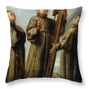 The Franciscan Martyrs In Japan Throw Pillow by Don Juan Carreno de Miranda
