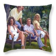 The Fraum Family Throw Pillow