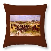The Fray Of Battle Throw Pillow