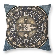 The Freedom Trail Throw Pillow