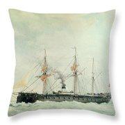 The French Battleship Throw Pillow