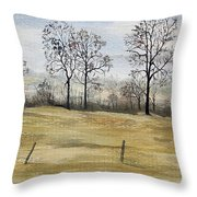 The French Countryside Throw Pillow