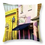 The French Quarter Wedding Chapel Throw Pillow