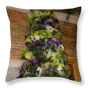 The French Thistle Tree Fashions For Evergreens Hotel Roanoke 2009 Throw Pillow