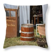 The French Visitor Throw Pillow