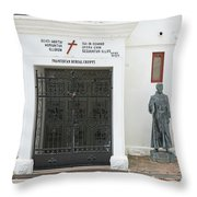 The Friars Crypt Throw Pillow