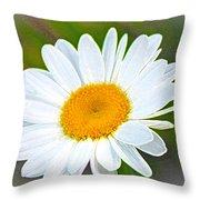 The Friendliest Flower Throw Pillow
