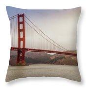 The Frisco Bridge Throw Pillow