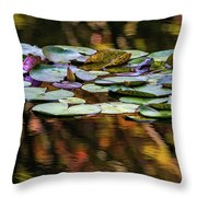 The Frog And The Lilipads Throw Pillow