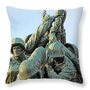 The Front Up Close -- The Iwo Jima Monument Throw Pillow