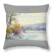 The Frozen Lake Throw Pillow